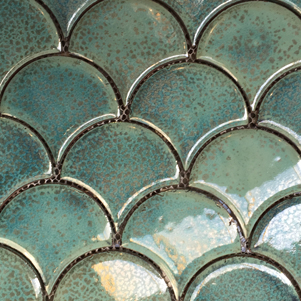 Fish Scale Mosaic Tiles
