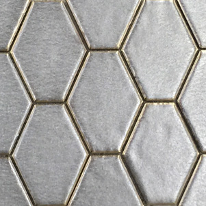 Bronze Diamond & Hexagonal Mosaic