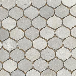 Sleek Grey Teardrop Mosaics