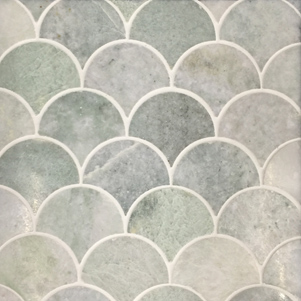 Fish scale mosaics products surface gallery for Fish scale tiles bathroom
