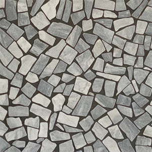 Diamond Grey Smashed Tumbled